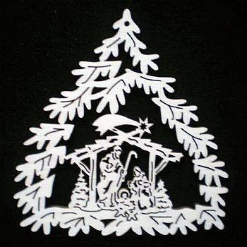 Baum mit Krippe 9cm