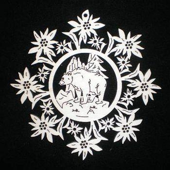 Edelweiss mit Baer 9cm
