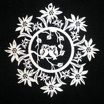 Edelweiss mit Eule 9cm