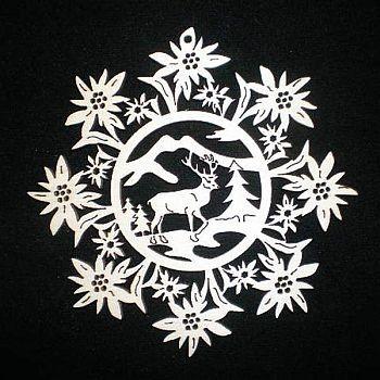Edelweiss mit Hirsch 9cm