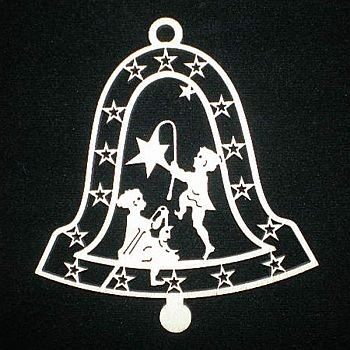Glocke mit Kinder 9cm