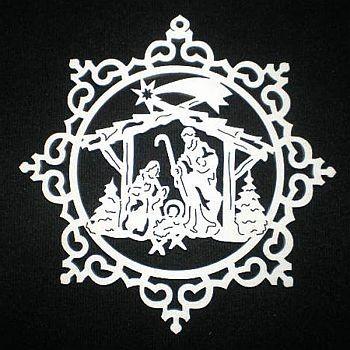 Krone mit Krippe 9cm