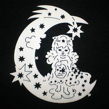 Mond mit Engelchen 9cm