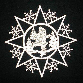 Schneeflocke mit Eisläuferin