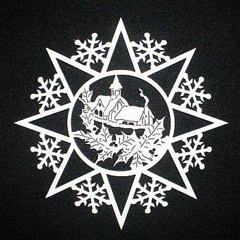 Schneeflocke mit Kapelle
