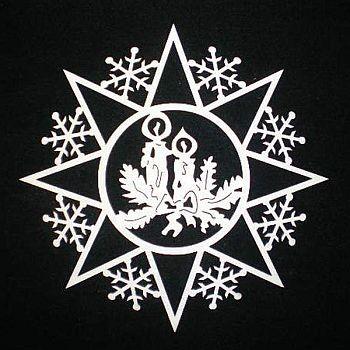 Schneeflocke mit Kerzen 6cm