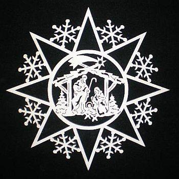Schneeflocke mit Krippe