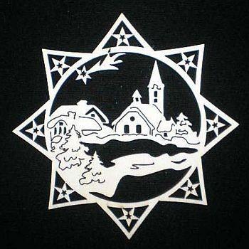 Stern mit Dorf 9cm
