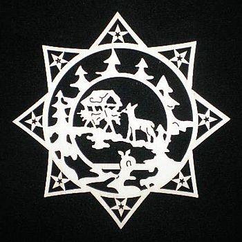 Stern mit Waldtiere