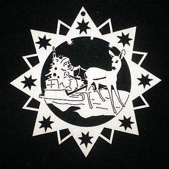 Stern mit Schlitten 6cm