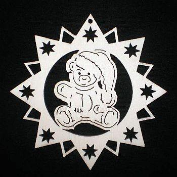Stern mit Teddybär 6cm
