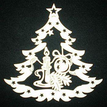Tannenbaum mit Kerzenhalter 9cm