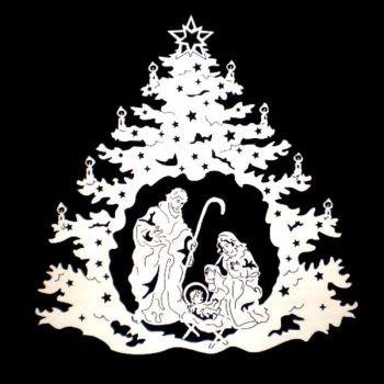 Weihnachtsbaum mit Krippe